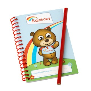 Rainbow Notepad & Pencil (7007)