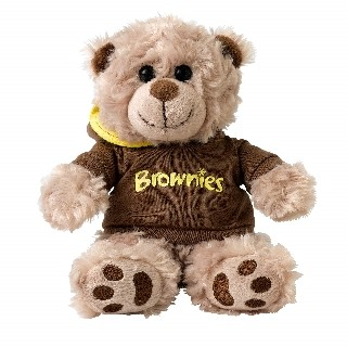 Brownie Bear Wearing Hoodie (2603)