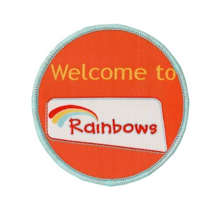 Welcome To Rainbows Badge Woven (8547)