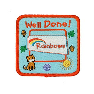 Rainbow Well Done Woven Badge (8480)
