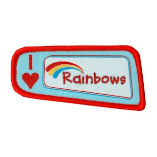 I Love Rainbows Woven Badge (8490)