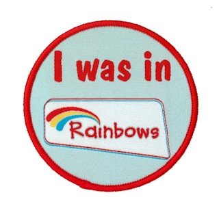 I Was In Rainbows Woven Badge (8543)