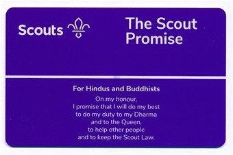 Promise Card Scouts (Hindus & Buddhists)