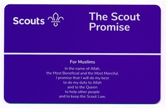 Promise Card Scouts (Muslims)